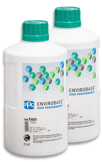 Green envirobase paint from PPG